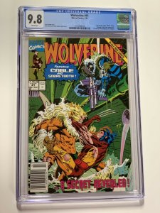 Wolverine 41 Cgc 9.8 Newsstand Edition Marvel X-men Cable 010