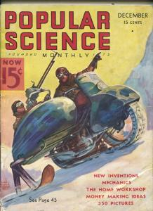 Popular Science December 1936-Motorcycle cover