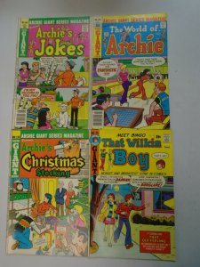 Bronze Age Giant size Archie comic lot 4 different issues avg 6.0 FN