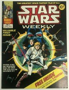 STAR WARS WEEKLY#1 NM 1978 BRITISH MARVEL BRONZE AGE COMICS
