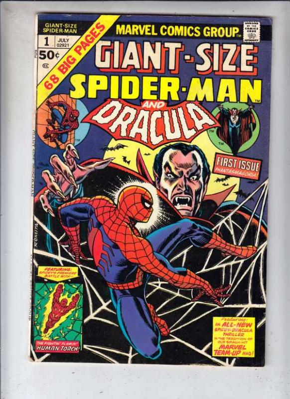 Giant-Size Spider-Man and Dracula #1 (Jul-74) FN/VF Mid-High-Grade Spider-Man