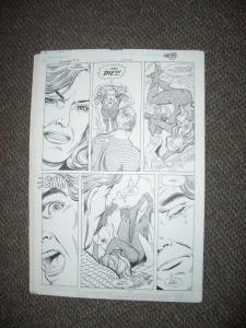 CURT SWAN ORIGINAL ART AQUAMAN #3 PG 21-MERA DEATHSCENE FN
