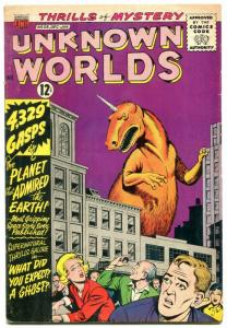 Unknown Worlds #28 1963- ACG Silver Age- monster cover VG+