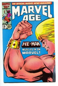 MARVEL AGE #38 HE-MAN  Masters of the Universe PREVIEW 1986- Marvel  VF/NM