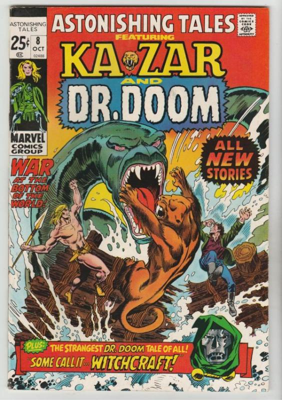 Astonishing Tales #8 (Oct-71) VF/NM High-Grade Ka-Zar, Doctor Doom