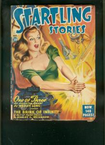 STARTLING STORIES-MAR 1948-SPICY HEADLIGHT PULP COVER   VG/FN