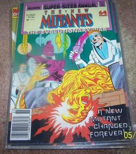 NEW MUTANTS ANNUAL # 4  1988 THE EVOLUTIONARY WAR CROSSOVER