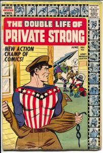 Double Life of Private Strong #1 1959-1st issue-Shield origin-Simon & Kirby-VG-