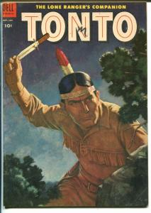 Tonto #17 1955-Dell-western stories-Lone Ranger's Companion-nice art-VG