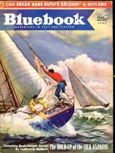 BLUE BOOK PULP-JUNE 1952-VG/FN-LUNDGREN COVER-BALLARD-ROAN-LIVINGSTON VG/FN