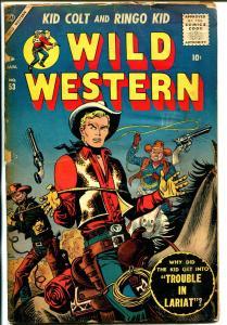 Wild Western #53 1957-Atlas-Kid Colt-Joe Maneely-Ringo Kid-Utah Kid-FR