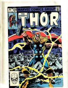 6 The Mighty Thor Marvel Comic #329 382 383 457, Annual #11, Annual #14 J344