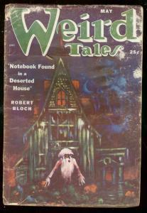 WEIRD TALES MAY 1951-ROBERT BLOCH-DERLETH MATT FOX ART G