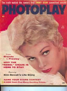 Photoplay-Kim Novak-June Allyson-Kirk Douglas-James Dean-Nov-1956