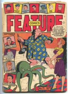 Feature Comics #71 1943- Octopus cover- Doll Man restored