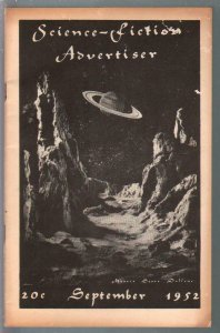 Science-Fiction Advertiser 9/1952-early fanzine-pulps-reviews-sci-fi-VG/FN