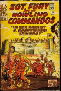 SGT. FURY AND HIS HOWLING COMMANDOS #16-WWII VG