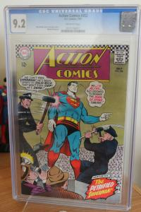 Action Comics #352 (DC, 1967) CGC NM- 9.2 Off-white pages