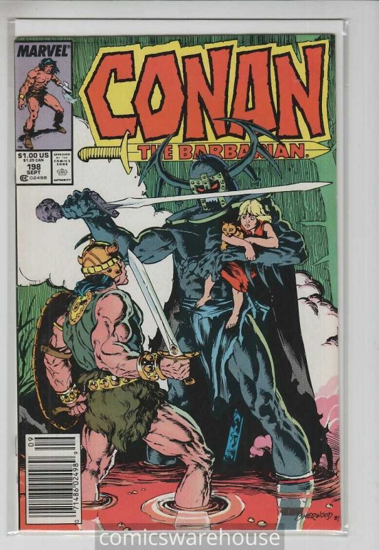 CONAN THE BARBARIAN (1970 MARVEL) #198 FN+ A21393