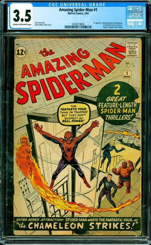 Amazing Spider-Man #1 CGC Graded 3.5 1st app of J. Jonah Jameson & Chameleon....