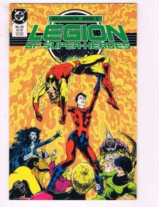 Legion Of Superheroes #43 VF DC Millennium Week 6 Comic Book Levitz 1988 DE13