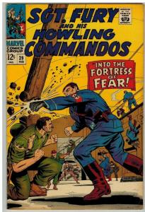 SERGEANT FURY 39 VG-F Feb. 1967 Ayers Fortress of Fear