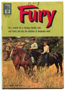 Four Color #1296 1962- FURY- Dell Western- Peter Graves VG