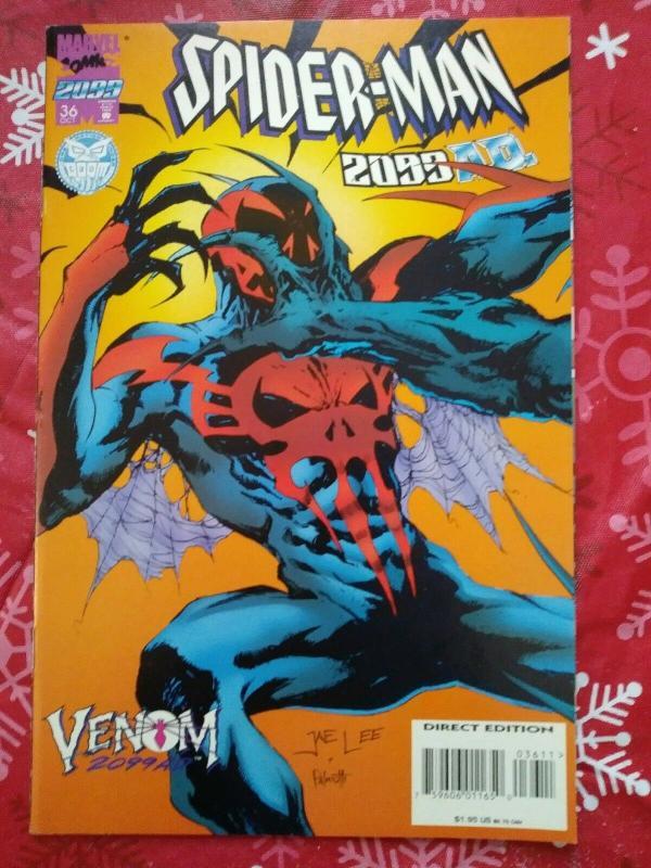 Spider-Man 2099 #36 (1995) Venom 2099 app Cover B Jae Lee cvr art
