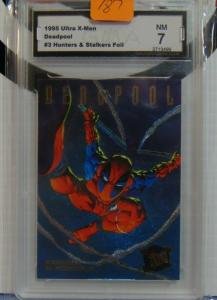 1995 Fleer Ultra X-Men Deadpool #3 Huntes & Stalkers Foil Insert Card - Graded 7