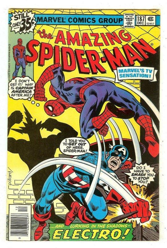 Amazing Spiderman 187   Captain America