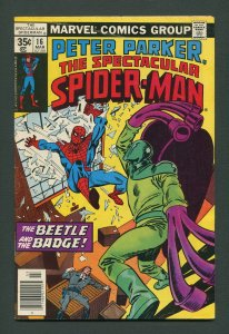Peter Parker,Spectacular Spiderman #16 / 6.5 FN+  March 1978