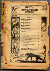 Spicy Adventure Stories Pulp April 1936- coverless copy