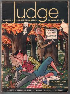 Judge 10/1946-gags & cartoons-spicy cover-James Gibson-Bob Hope-FR
