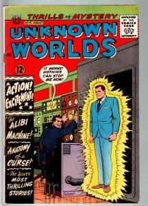 UNKNOWN WORLDS #41-1965-ACG-HORROR-WILD COVER-FN- FN-