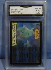 2001 Harry Potter TCG Draco Malfoy #5 Wizard Hologram Rare Card - Graded MINT 10