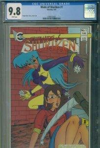 Blade of Shuriken #1 CGC 9.8 Rare Manga Comic - HIGHEST 1 OF 2 GRADED - May 1987