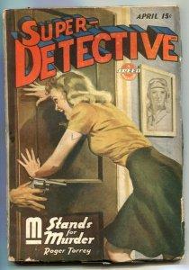 Super-Detective April 1944- M Stands For Murder VG