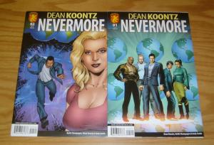 Dean Koontz's Nevermore #1-2 VF/NM complete series dabel brothers 2009 comics