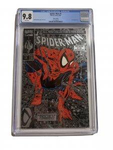 Spider-man 1 Cgc 9.8 Silver Edition Variant 1990 Marvel