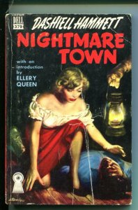 NIGHTMARE TOWN-#379-DASHIELL HAMMETT-DELL MAPBACK-HARDBOILED-vg
