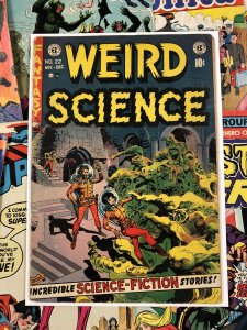 Weird Science #22 G+ 2.5 EC comic sci-fi ENTERTAINING wood cover FRAZETTA ART