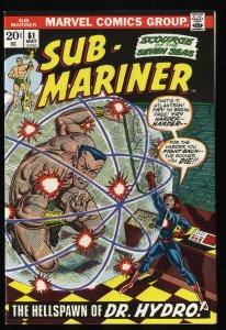 Sub-Mariner #61 NM- 9.2 Marvel Comics
