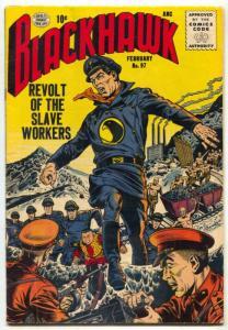 Blackhawk #97 1956- HITLER'S DAUGHTER- Slave Workers FN
