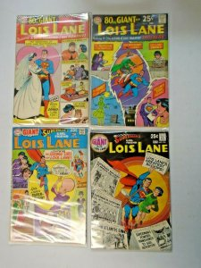 Silver Age Lois Lane Giant Size Comic Lot 4 Different Average 4.0 VG (1966-1970)