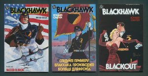 Blackhawk  #1  #2  #3 (SET)  /  9.0 VFN/NM - 9.2 NM- (Prestige Format)   1988