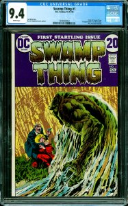 Swamp Thing #1 CGC Graded 9.4 Origin of Swamp Thing. 1st appearance of Lt. Ma...