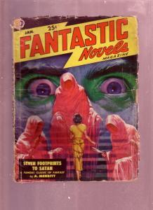 FANTASTIC NOVELS JAN 1949-A MERRITT HORROR SCI FI PULP G