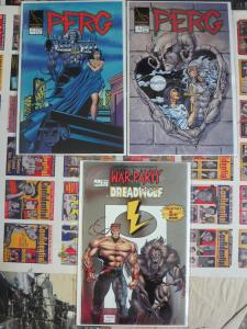 Lightning Comics Lot of 6 Perg War Party Dreadwolf Bloodfire So GRITTY!