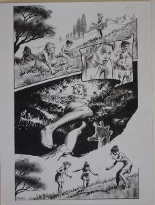 THOMAS YEATES original art, Published, Underworld, 12x 16, Tom, Sign