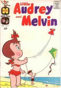 LITTLE AUDREY & MELVIN (1962-1973) 21 VF-NM   Nov. 1965 COMICS BOOK